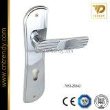 Traitement en alliage de zinc classique de plaque de blocage de porte (7067-Z6098)