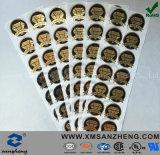 Alto la súplica creciente oro sutil Metallics del estante de la plata del lustre etiqueta etiquetas engomadas