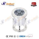 Indicatore luminoso subacqueo della fontana del CREE LED 6W LED in IP68 per i raggruppamenti