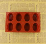 6 La cavité de forme ovale de savon de moule en silicone