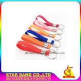 Bracelete de silício personalizado inteligente com chave de borracha pulseiras titular compacta