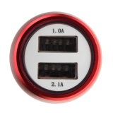 Caricatore rapido dell'automobile del USB della carica personalizzato marchio 2 con sicurezza dell'ABS