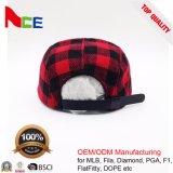 中国の工場カスタム波は5つのパネルの平らな縁の急な回復の冬の帽子を修繕する