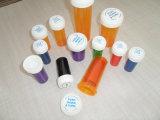 Frasco de farmácia reversível de plástico com tampa roscada
