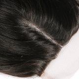 Chiusura centrale del merletto dell'onda del corpo della parte dei capelli umani del Virgin