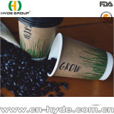 cuvette de papier de double café chaud remplaçable du mur 10oz avec l'impression