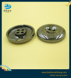 カスタムロゴ4の穴の金属のGunmetalの縫うボタン