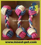 18cm dumbbell 면 고양이 개 씹기 밧줄 장난감