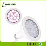 Amplio espectro de luz blanca lámpara PAR38 18 LED 20W E26 crecer la luz para el crecimiento de plantas y flores