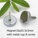 De permanente Sterke Magneet van het Neodymium met de Kop en de Schroef van het Metaal