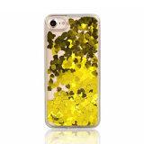 Amoureux de paillettes de liquide de luxe en arrière du couvercle du carter de Téléphone pour iPhone 7/7 : plus/ X/ 8plus