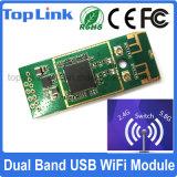 Top-4m02 802.11A/B/G/N Dual engranzamento sem fio encaixado USB de WiFi da sustentação do módulo da rede da faixa 300Mbps Ralink Rt5572 WiFi