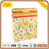 Flor Amarilla revestido de arte de la moda bolsa de papel de regalo