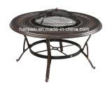 옥외/정원/안뜰 등나무 주조 알루미늄 바베큐 테이블 HS6125dt