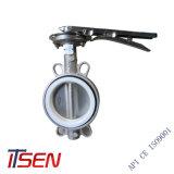 Valvola a farfalla di gomma della cialda del cappotto dell'acciaio inossidabile CF8/CF8m NBR per lo standard di JIS