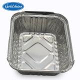 Feuille en aluminium de qualité alimentaire contenant des aliments pour la restauration rapide
