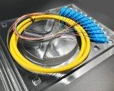 光ファイバ12のコアはネットワーク伝達および無線CCTVのためのピグテールを区切る