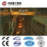 FEM/ISO standard type 160/40YZ 75/20~t Quatre moulage de faisceau/frais généraux de fonderie voyageant/pont roulant pour l'usine d'acier