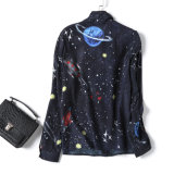 Camicia di modo della camicia delle nuove donne con una camicetta stellata enorme del cielo