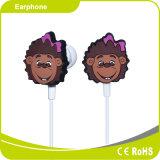Caricatura de gel de sílice Auricular de promoción de los niños