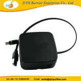 Venta caliente el tornillo de mesa/pared de carga montado en una forma de Cable retráctil USB