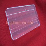 Placa de cristal de cuarzo del cuadrado de la pureza elevada