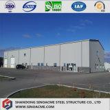 品質のAssemabledのプレハブによって電流を通される鉄骨フレームの倉庫の建物