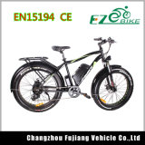 bici eléctrica de la nieve del rango largo de la aleación del Al de 48V 500W