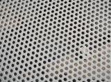穴があいたステンレス製の網の鋼板の金属