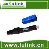 Conector rápido óptico del conector de fibra con simplex del SM
