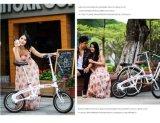 """소녀 여가 접히는 자전거 16 """" 소형 도시 자전거"""