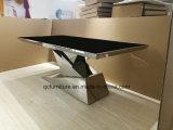 Tableaux élégants modernes de salle à manger d'acier inoxydable de type