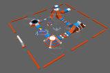 O Parque Aquático Lilytoys gigante de Design Parque Aquático Inflável Aquapark, Jogos de água insufláveis para crianças