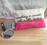 De bulk Kosmetische Zakken van de Make-up van het Canvas van Zakken Goedkope In het groot