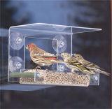 Bandeja plástica acrílica desobstruída por atacado da gaiola de pássaro