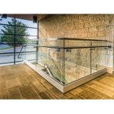 Aluminiumplattform-Geländer-Glasbalustrade-U-Profilstäbeglas-Geländer
