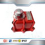 Válvula de esfera com o atuador elétrico à prova de explosões