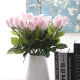 Reale Noten-rote weiße und blaue künstliche Rosen-Blumen