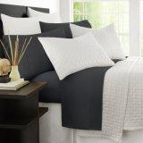 1500TC 1800tc enrugar lençóis de algodão/Linha de Cama