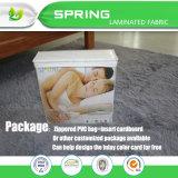 Ucha branca impermeável de bambu do bebê da base dos berços do bebê cabida e tampa da almofada do colchão da criança/protetor