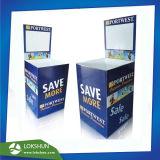 DVD promocional de cartón barato Dumpbin Mostrar pantalla Fsdu cartón piso DVD