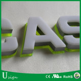 Carta de canal de acrílico de la insignia 3D de la muestra de encargo LED de la carta para la muestra del departamento