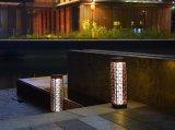 sur la lumière solaire d'horizontal de lampe de rotin de jardin de promotion
