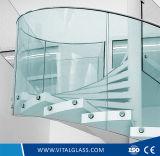 El claro Tempered dobló el vidrio del vidrio de flotador/laminado/reflexivo/modelada/helada
