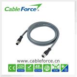 12pin M12 de Mannelijke Rechte Kabel van de Schakelaar voor Sensor en Actuator met Stop