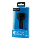 QC3.0 4 포트 USB 이동 전화 (검정)를 위한 빠른 USB 차 충전기