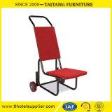 연회 의자를 겹쳐 쌓이기를 위한 강철 의자 트롤리