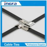 Aperçus gratuits tout acier inoxydable de serres-câble en métal de couleur avec enduit d'époxyde