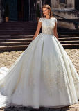 Illision Sleeves Bridal платье венчания 2018 L15343 Tulle шнурка Vestidos мантии шарика