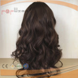 Peluca atada media mano de las mujeres del pelo humano (PPG-l-01272)
